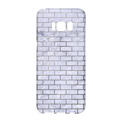 Brick1 White Marble & Silver Paint (r) Samsung Galaxy S8 Hardshell Case