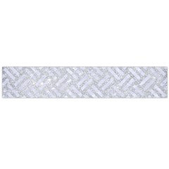 Woven2 White Marble & Silver Glitter Large Flano Scarf