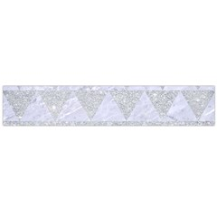 Triangle2 White Marble & Silver Glitter Large Flano Scarf