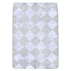 Square2 White Marble & Silver Glitter Flap Covers (l)