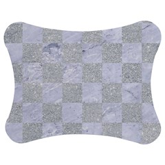 Square1 White Marble & Silver Glitter Jigsaw Puzzle Photo Stand (bow)