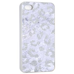 Skin5 White Marble & Silver Glitter Apple Iphone 4/4s Seamless Case (white)