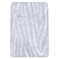 Skin4 White Marble & Silver Glitter (r) Flap Covers (l)
