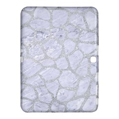 Skin1 White Marble & Silver Glitter Samsung Galaxy Tab 4 (10 1 ) Hardshell Case