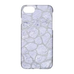 Skin1 White Marble & Silver Glitter Apple Iphone 8 Hardshell Case