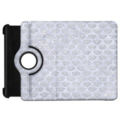 Scales3 White Marble & Silver Glitter Kindle Fire Hd 7
