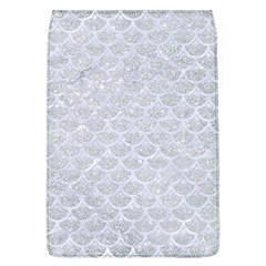 Scales3 White Marble & Silver Glitter Flap Covers (l)