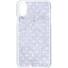 Scales2 White Marble & Silver Glitter (r) Apple Iphone X Seamless Case (white)
