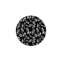 Dark Orquideas Floral Pattern Print Golf Ball Marker (10 Pack)