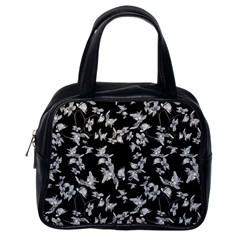 Dark Orquideas Floral Pattern Print Classic Handbags (one Side)