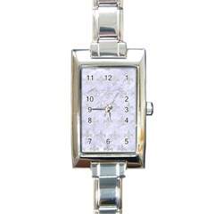 Royal1 White Marble & Silver Glitter Rectangle Italian Charm Watch