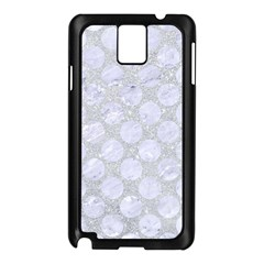 Circles2 White Marble & Silver Glitter Samsung Galaxy Note 3 N9005 Case (black)