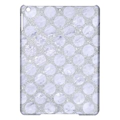Circles2 White Marble & Silver Glitter Ipad Air Hardshell Cases