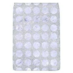 Circles1 White Marble & Silver Glitter Flap Covers (l)