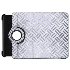 Woven2 White Marble & Silver Brushed Metal (r) Kindle Fire Hd 7