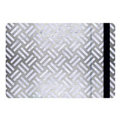 Woven2 White Marble & Silver Brushed Metal Apple Ipad Pro 10 5   Flip Case