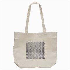 Woven1 White Marble & Silver Brushed Metal (r) Tote Bag (cream)