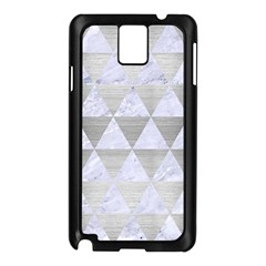 Triangle3 White Marble & Silver Brushed Metal Samsung Galaxy Note 3 N9005 Case (black)