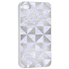 Triangle1 White Marble & Silver Brushed Metal Apple Iphone 4/4s Seamless Case (white)