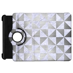 Triangle1 White Marble & Silver Brushed Metal Kindle Fire Hd 7