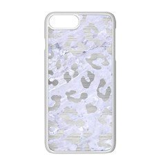 Skin5 White Marble & Silver Brushed Metal Apple Iphone 8 Plus Seamless Case (white)