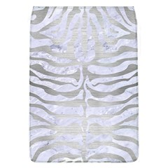 Skin2 White Marble & Silver Brushed Metal (r) Flap Covers (l)