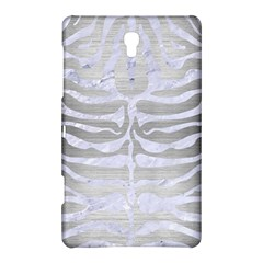 Skin2 White Marble & Silver Brushed Metal Samsung Galaxy Tab S (8 4 ) Hardshell Case