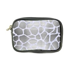 Skin1 White Marble & Silver Brushed Metal (r) Coin Purse