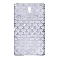 Scales3 White Marble & Silver Brushed Metal (r) Samsung Galaxy Tab S (8 4 ) Hardshell Case