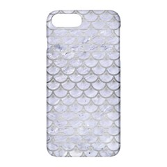 Scales3 White Marble & Silver Brushed Metal (r) Apple Iphone 7 Plus Hardshell Case