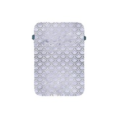 Scales2 White Marble & Silver Brushed Metal (r) Apple Ipad Mini Protective Soft Cases