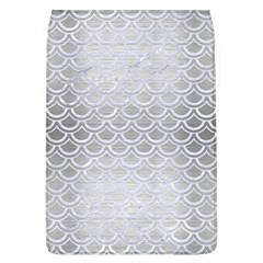 Scales2 White Marble & Silver Brushed Metal Flap Covers (l)