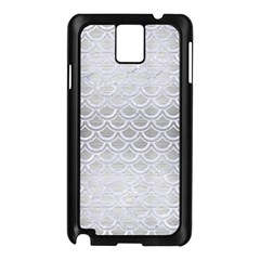 Scales2 White Marble & Silver Brushed Metal Samsung Galaxy Note 3 N9005 Case (black)