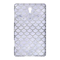 Scales1 White Marble & Silver Brushed Metal (r) Samsung Galaxy Tab S (8 4 ) Hardshell Case