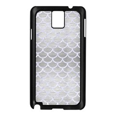 Scales1 White Marble & Silver Brushed Metal Samsung Galaxy Note 3 N9005 Case (black)