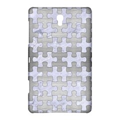 Puzzle1 White Marble & Silver Brushed Metal Samsung Galaxy Tab S (8 4 ) Hardshell Case