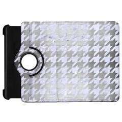 Houndstooth1 White Marble & Silver Brushed Metal Kindle Fire Hd 7
