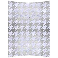 Houndstooth1 White Marble & Silver Brushed Metal Back Support Cushion