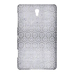 Hexagon1 White Marble & Silver Brushed Metal Samsung Galaxy Tab S (8 4 ) Hardshell Case