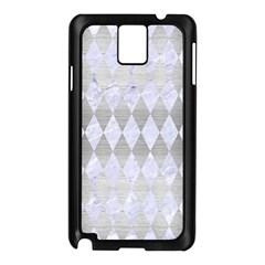Diamond1 White Marble & Silver Brushed Metal Samsung Galaxy Note 3 N9005 Case (black)
