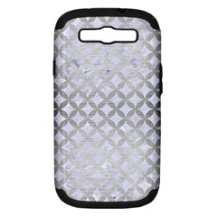 Circles3 White Marble & Silver Brushed Metal (r) Samsung Galaxy S Iii Hardshell Case (pc+silicone)