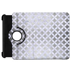 Circles3 White Marble & Silver Brushed Metal Kindle Fire Hd 7