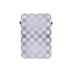 Circles2 White Marble & Silver Brushed Metal Apple Ipad Mini Protective Soft Cases