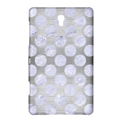 Circles2 White Marble & Silver Brushed Metal Samsung Galaxy Tab S (8 4 ) Hardshell Case