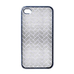 Brick2 White Marble & Silver Brushed Metal Apple Iphone 4 Case (black)
