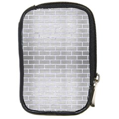 Brick1 White Marble & Silver Brushed Metal Compact Camera Cases
