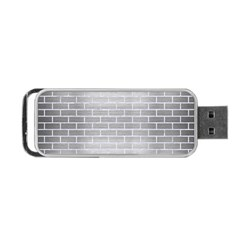 Brick1 White Marble & Silver Brushed Metal Portable Usb Flash (two Sides)