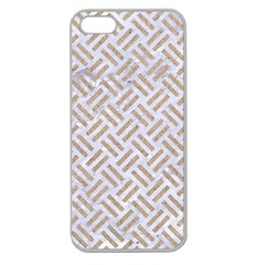 Woven2 White Marble & Sand (r) Apple Seamless Iphone 5 Case (clear)