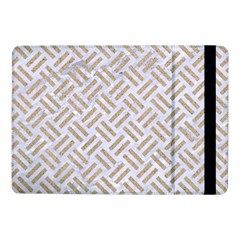 Woven2 White Marble & Sand (r) Samsung Galaxy Tab Pro 10 1  Flip Case
