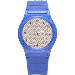 Woven2 White Marble & Sand Round Plastic Sport Watch (s)